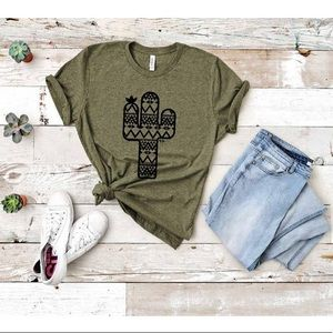 Olive Green Cactus Tee